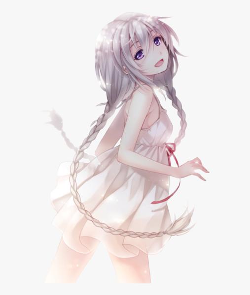 Hình ảnh cô bé anime tóc bạch kim