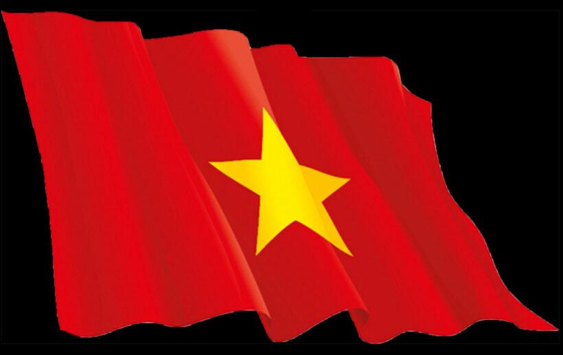 Hình ảnh cờ đỏ sao vàng bay phấp phới