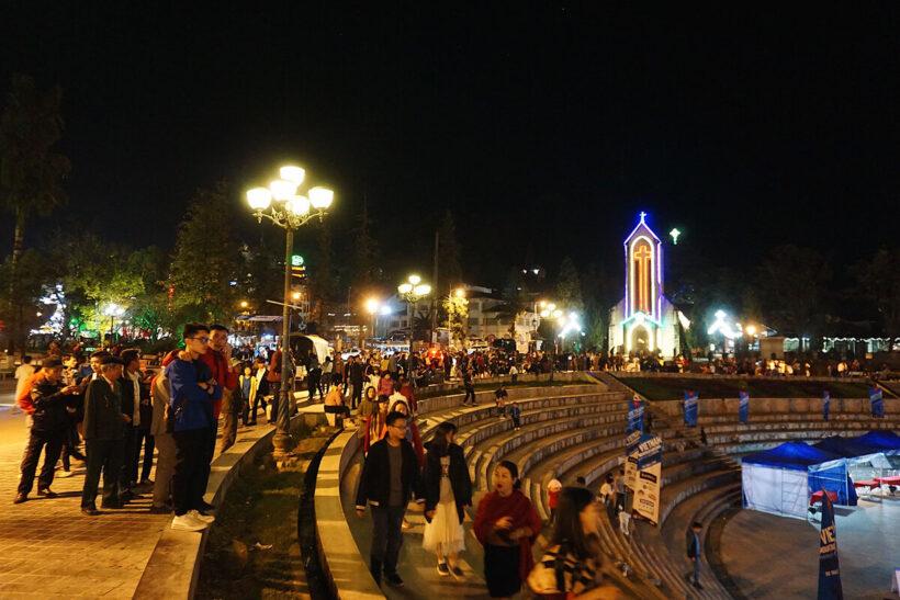 Hình ảnh đẹp Sapa về đêm