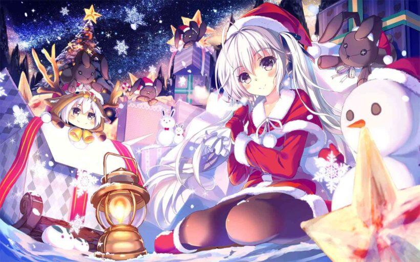 Hình ảnh Giáng Sinh anime mùa đông