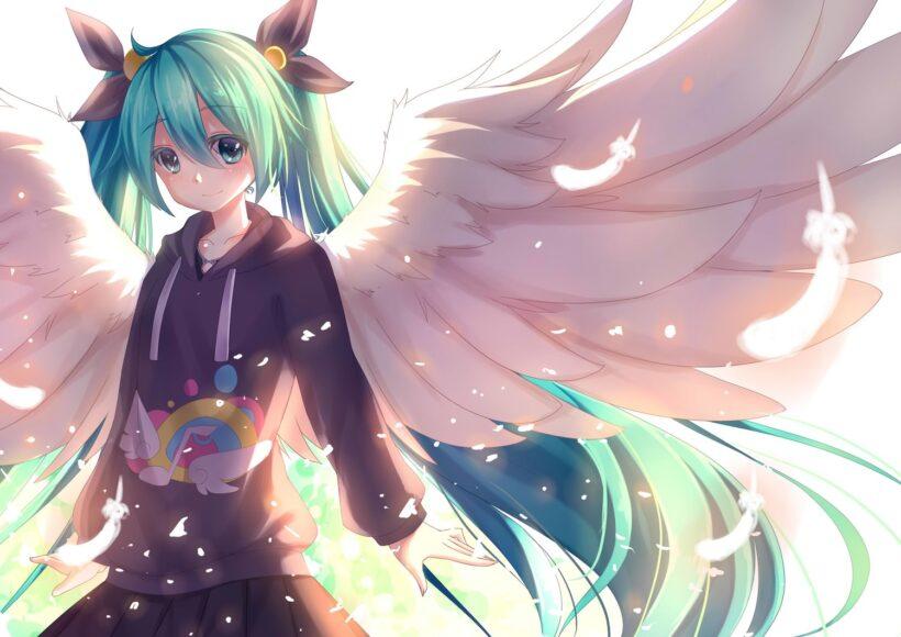 Hình ảnh girl anime thiên thần cute
