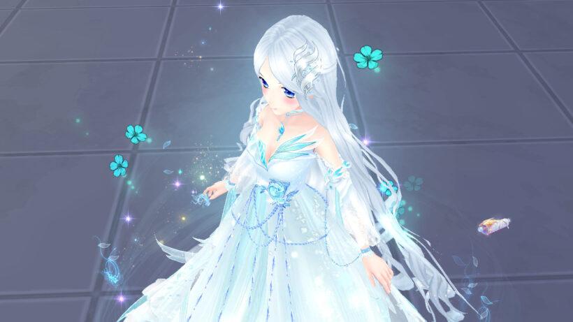 Hình ảnh girl anime tóc bạch kim lạnh lùng