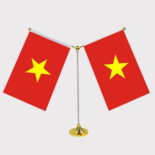 Hình ảnh hai lá cờ đỏ sao vàng