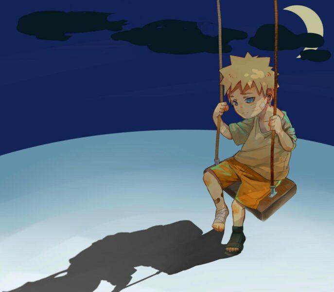 Hình ảnh hoạt hình buồn bã, cô đơn