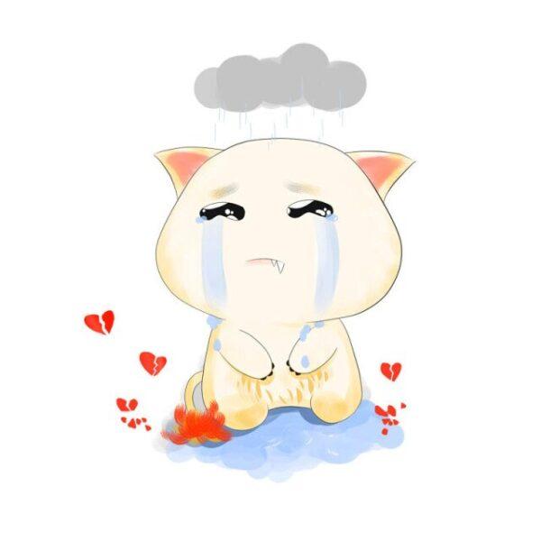 Hình ảnh hoạt hình buồn khóc đáng yêu