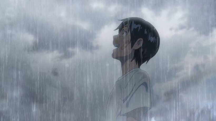 Hình ảnh hoạt hình buồn khóc dưới mưa