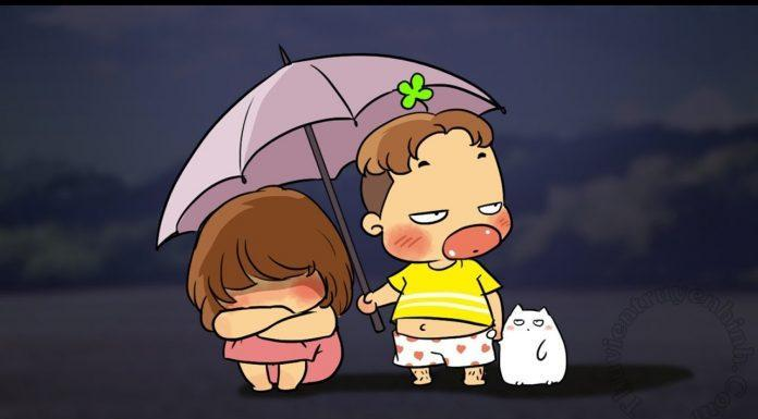 Hình ảnh hoạt hình tình yêu dễ thương, cute nhất