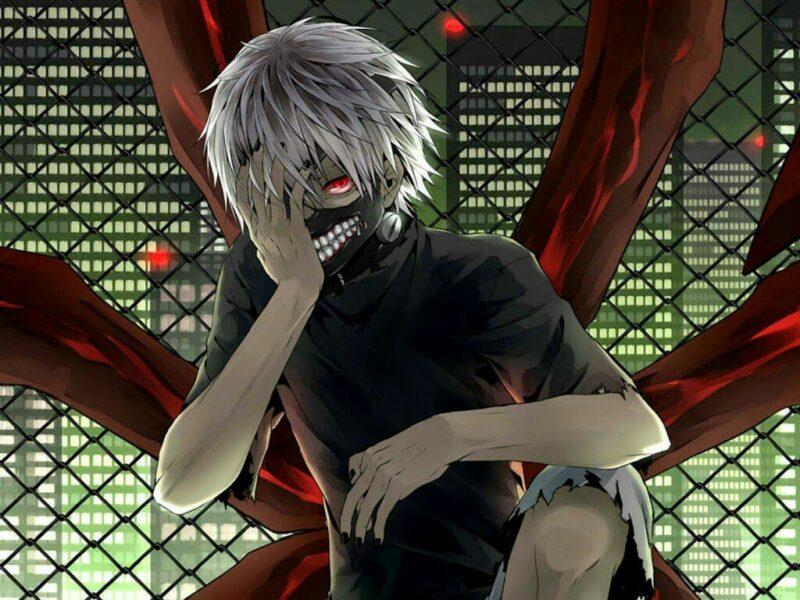 Hình ảnh Kaneki Ken đưa tay lên mặt