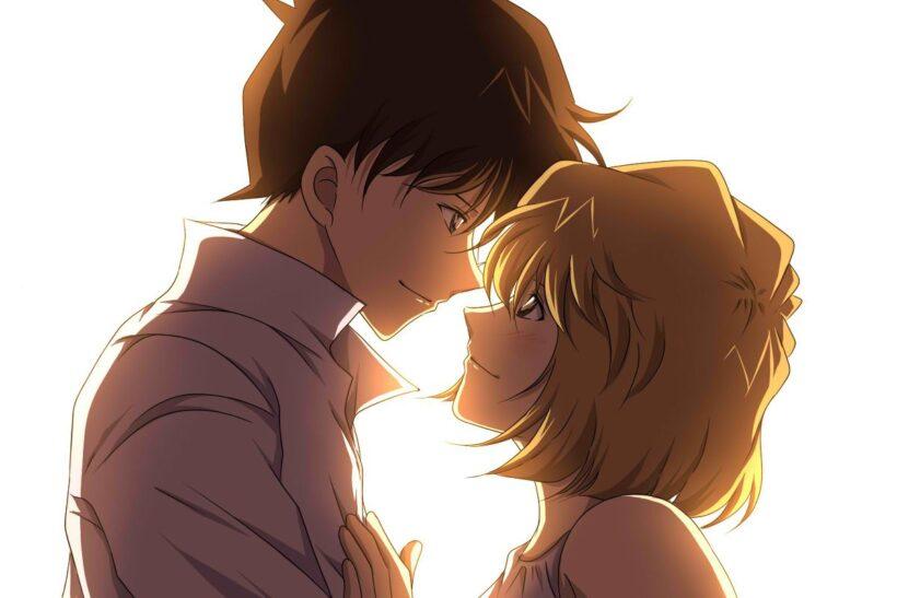 Hình ảnh Kudo Shinichi và bạn gái xinh đẹp