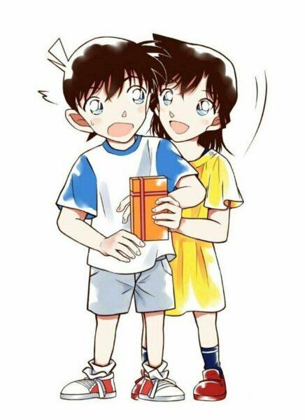 Hình ảnh Kudo Shinichi và Ran lúc còn nhỏ