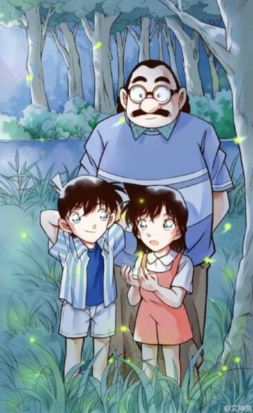 Hình ảnh Kudo Shinichi và Ran lúc nhỏ