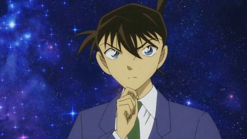 Hình ảnh Kudo Shinichi với vẻ mặt đang suy nghĩ