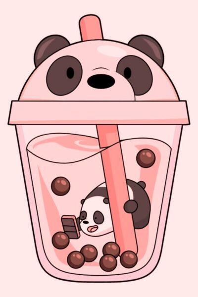 hình ảnh ly trà sữa cute nhất