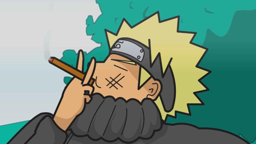 Hình ảnh Naruto chế hút thuốc