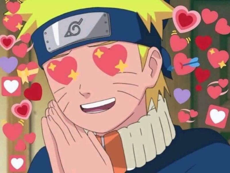 Hình ảnh Naruto chế về tình yêu