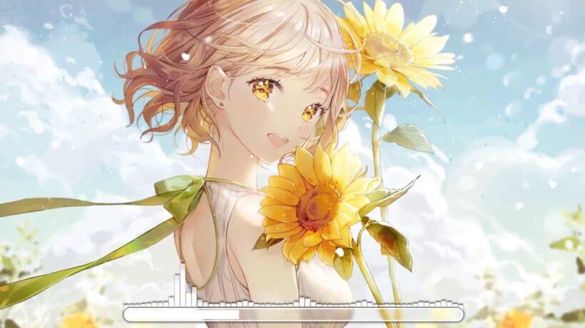 Hình ảnh nền anime hoa hướng dương
