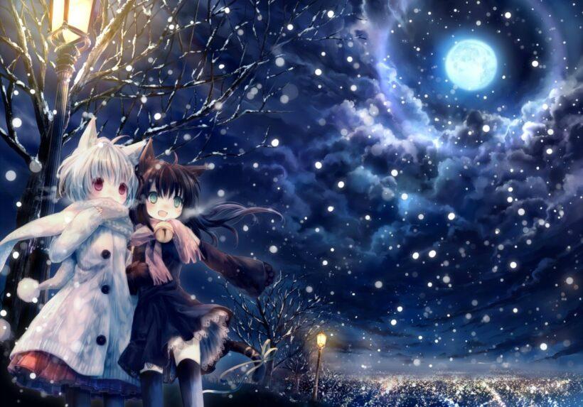 Hình ảnh nền anime mùa đông