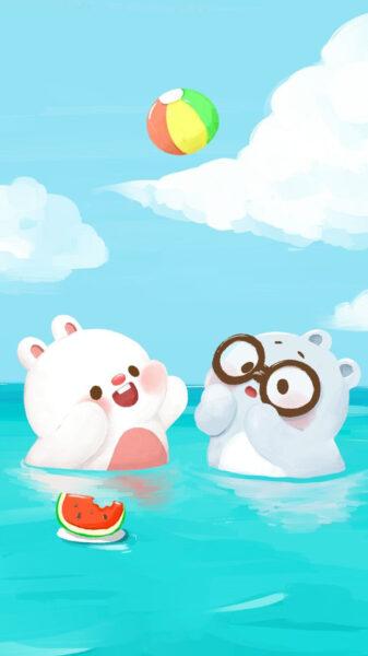 Hình ảnh nền hoạt hình dễ thương, cute cho điện thoại