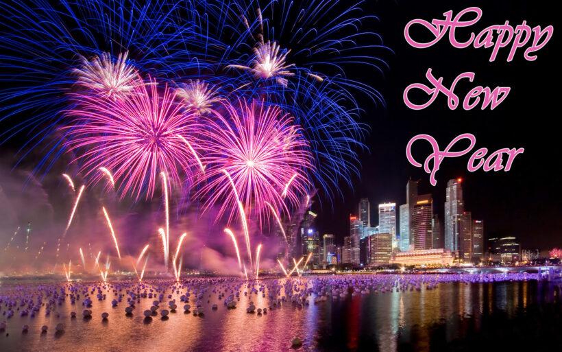 Hình ảnh nền siêu đẹp bắn pháo hoa chúc mừng năm mới