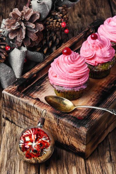 Homemade xmas cupcakes