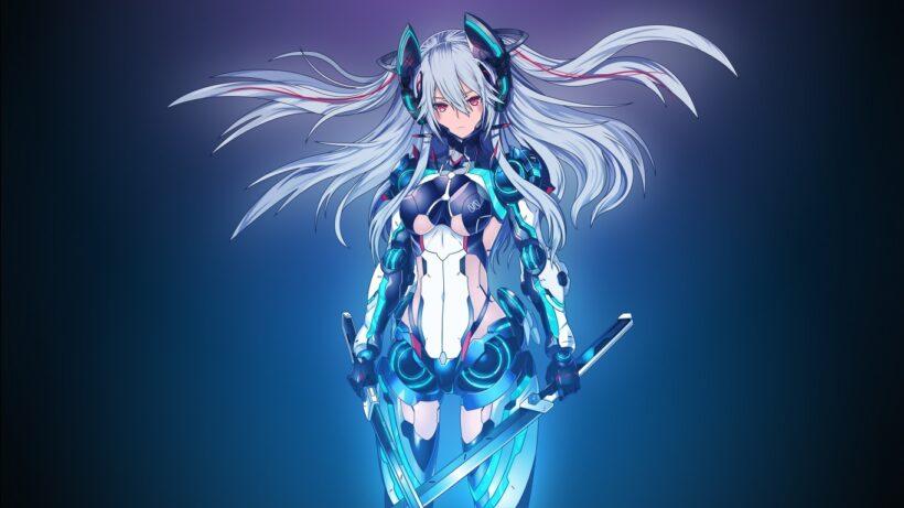 Hình ảnh nữ anime tóc bạch kim ngầu