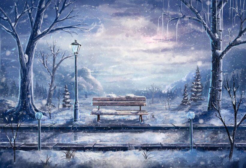 Hình ảnh phong cảnh anime mùa đông