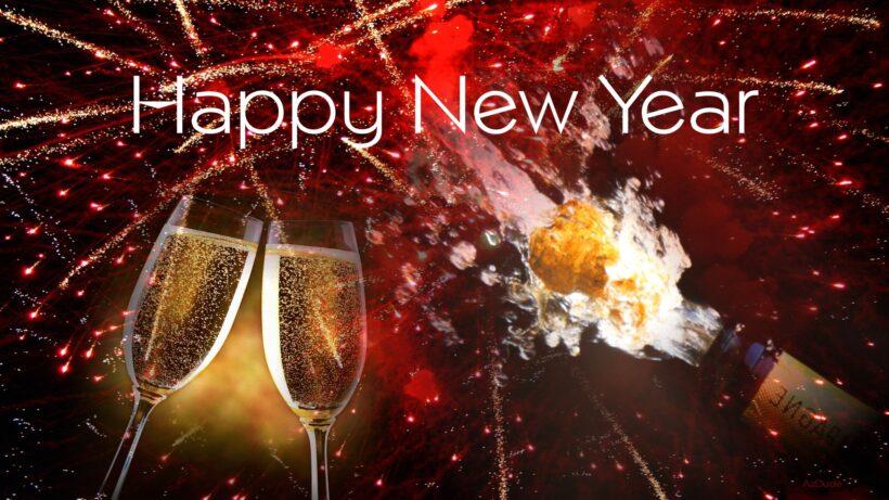 Hình ảnh rượu mừng năm mới