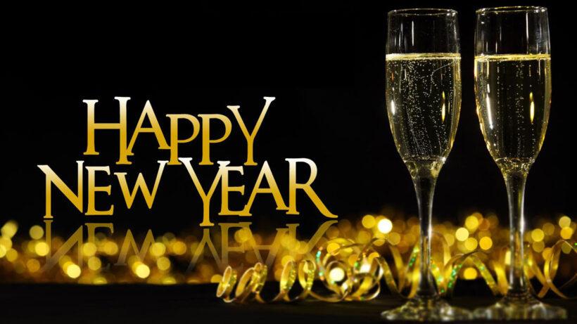 Hình ảnh rượu vang chúc mừng năm mới