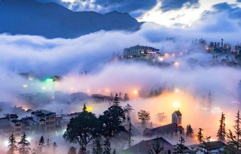 Hình ảnh sương mù ở Sapa