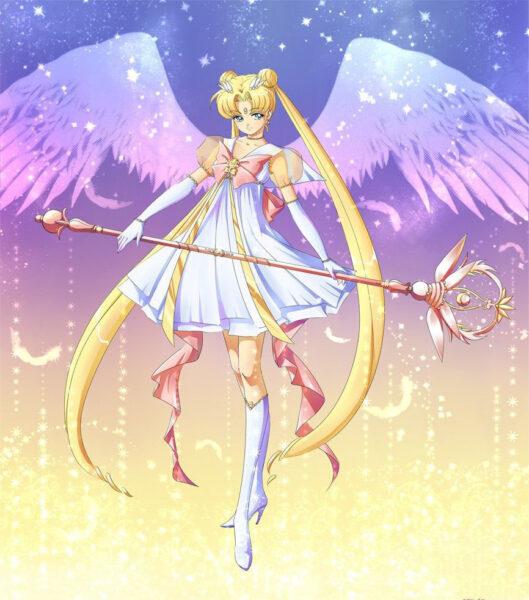 Hình ảnh Thuỷ Thủ Mặt Trăng xinh đẹp cùng với đôi cánh thiên thần