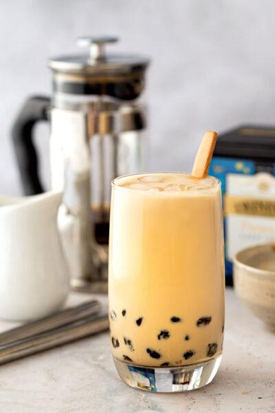 Hình ảnh trà sữa đẹp nhà làm