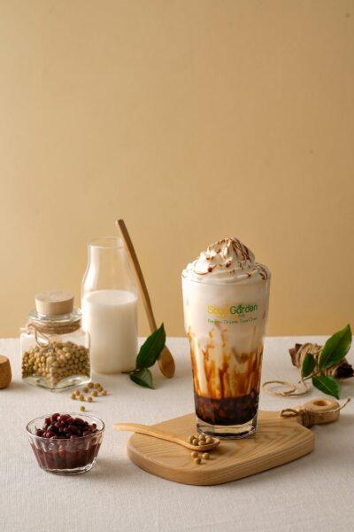 Hình ảnh trà sữa đẹp - trà sữa đậu đỏ