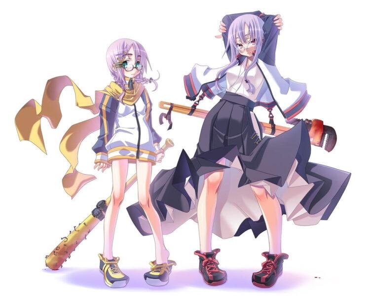 Hình anime girl đeo kính cute