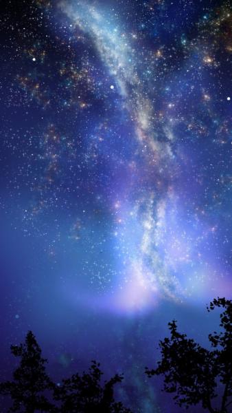 Hình bầu trời đêm đẹp