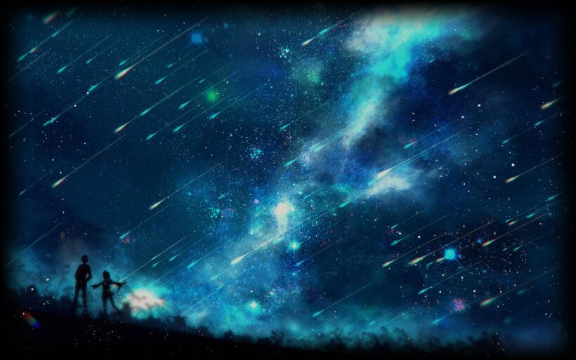 Hình nền anime bầu trời đêm đẹp