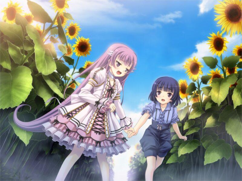 Hình nền anime hoa hướng dương đẹp cho Desktop
