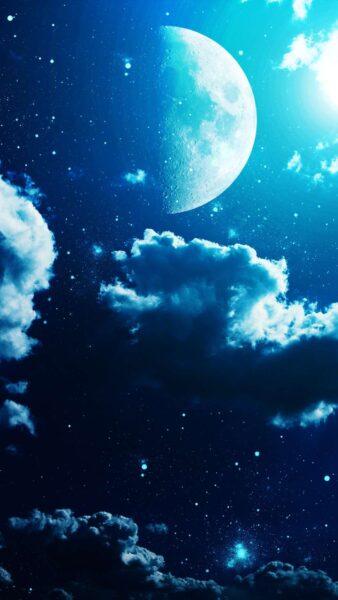 Hình nền bầu trời đêm đẹp đầy sao