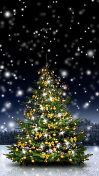 Hình nền cây thông Noel tuyệt đẹp cho điện thoại