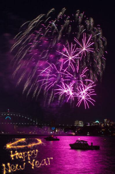 Hình nền điện thoại bắn pháo hoa chúc mừng năm mới