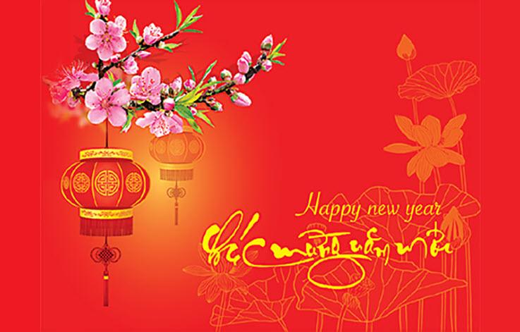 Hình nền đỏ đẹp chúc mừng năm mới