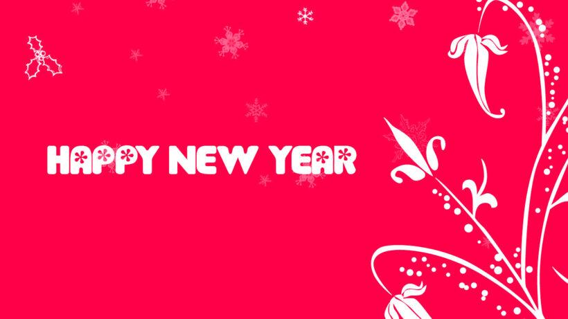 Hình nền màu hồng chúc mừng năm mới
