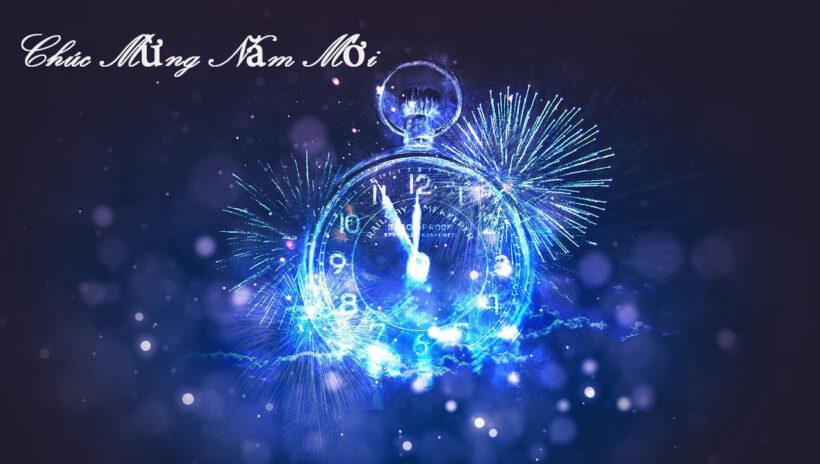 Khoảnh khắc giao thừa chúc mừng năm mới