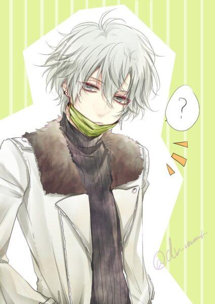 Nam anime tóc bạch kim buồn