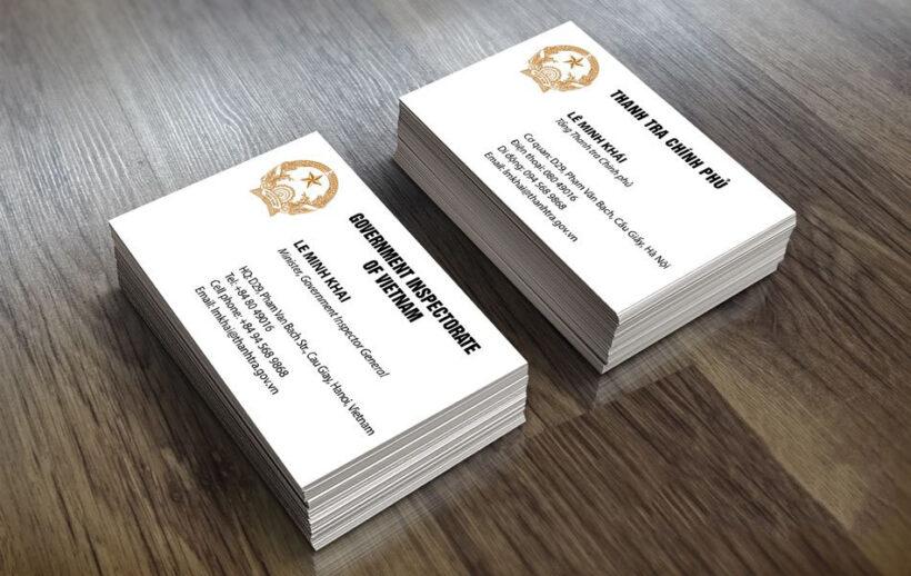 Ảnh mẫu card visit cơ quan chính phủ