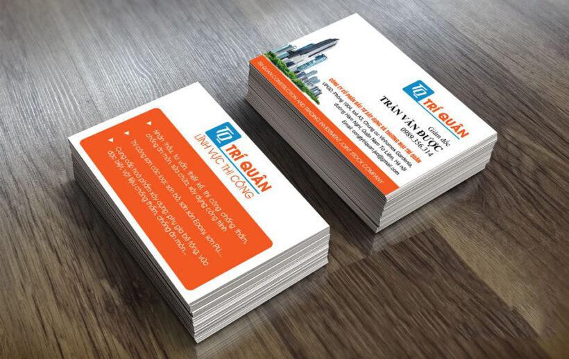 Ảnh mẫu card visit công ty xây dựng