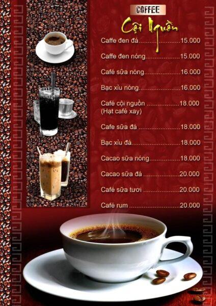 Ảnh mẫu menu cafe