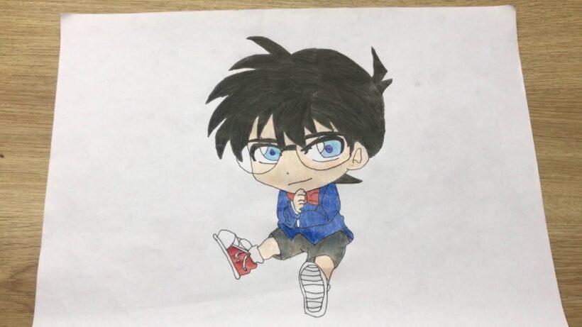 Cách vẽ anime Chibi Conan