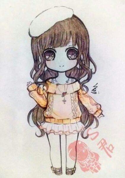Cách vẽ anime chibi nữ đáng yêu