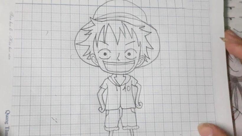 Cách vẽ anime Luffy đơn giản bằng bút chì