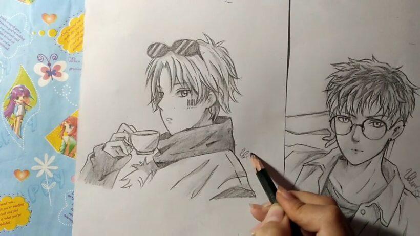 Cách vẽ anime nam bằng bút chì